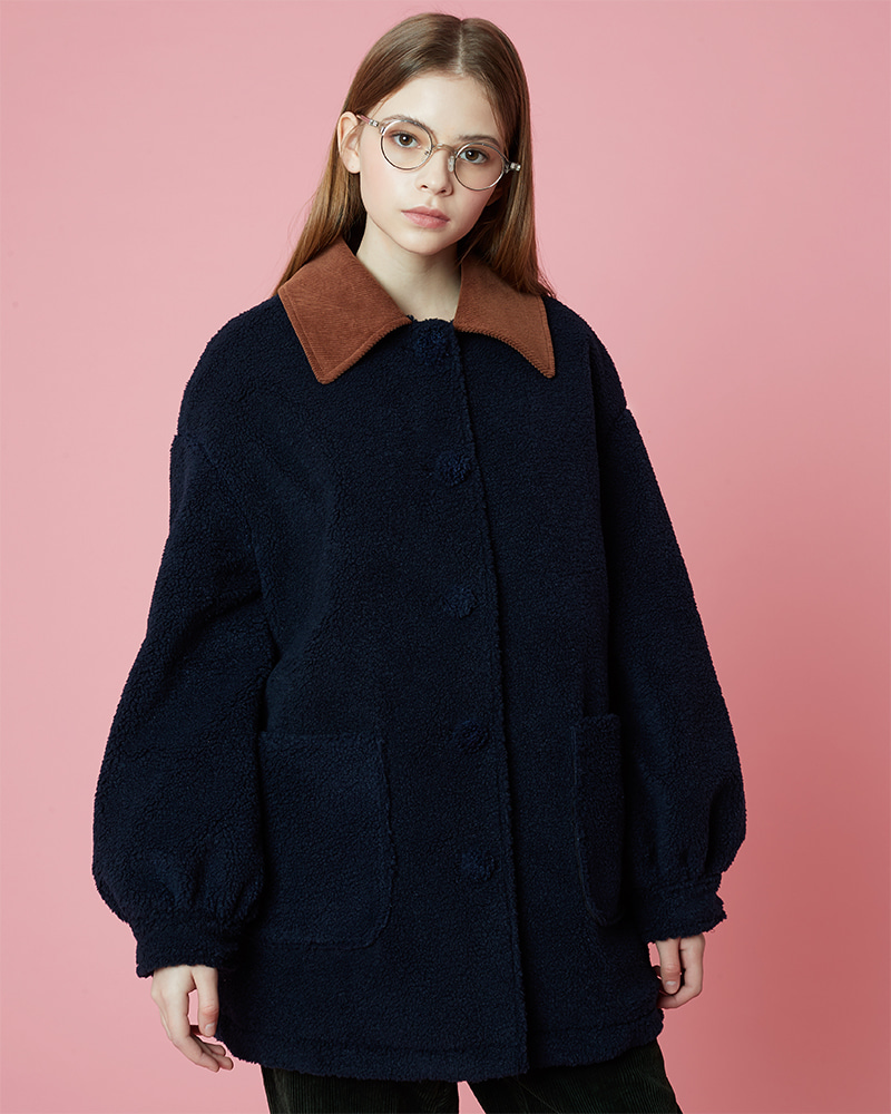 Fleece Coat_Navy